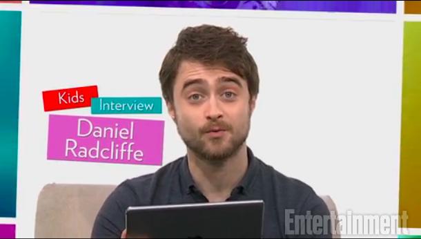 Daniel Radcliffe contesta adorables preguntas deniños