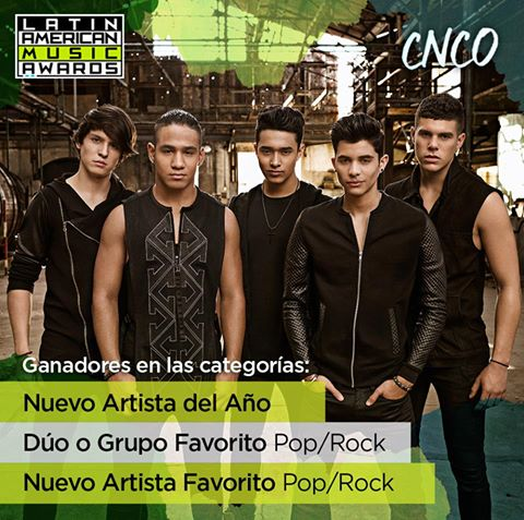 CNCO gana 3 Latin American MusicAwards